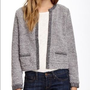 Elodie Boucle Knit Open Cardigan